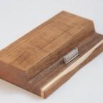 Ipad dock made of teak and birch